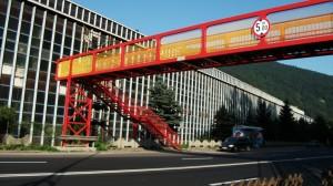 Pasarelă nouă pe DN 1A, între Ploiești și București
