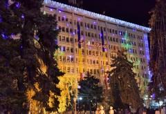 S-au aprins beculetele pe Palatul Administrativ