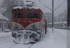 35 de trenuri, anulate din cauza viscolului
