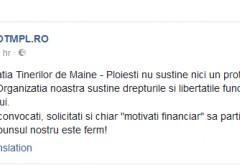 """Grupul de tineri ploiesteni OTMPL.RO confirma: """"Ni s-au oferit bani sa participam la miting"""""""
