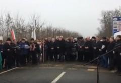 Romani treziti-va! Punct de trecere in Ungaria inaugurat DOAR cu steagul SECUIESC. FARA DRAPELUL ROMANIEI