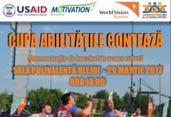 "Demonstratie de baschet in scaun rulant, la Blejoi. ""Motivation Romania"" organizeaza Cupa ""Abilitatile Conteaza"""