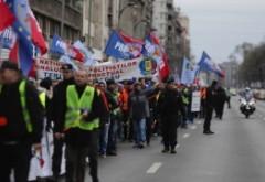 Polițiștii BLOCHEAZĂ centrul Bucureștiului: Miting de AMPLOARE chiar de Ziua Poliției Române - VIDEO
