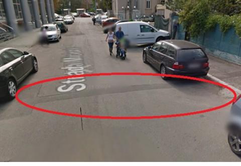 """Strada Miciurin din Ploiesti, cosmarul soferilor. """"Iti sare numarul de pe masina"""""""