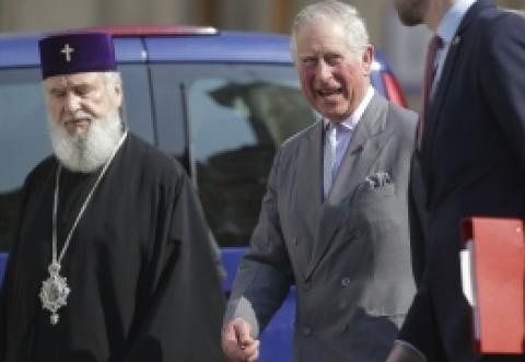 Prinţul Charles a fost la Patriarhia Română