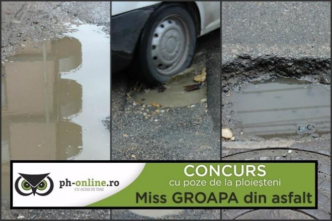 """CONCURS cu premii! """"Miss groapa din asfalt"""" - Trimite-ne o fotografie cu cea mai """"frumoasa"""" groapa din Ploiesti si castiga un Samsung Galaxy J5"""