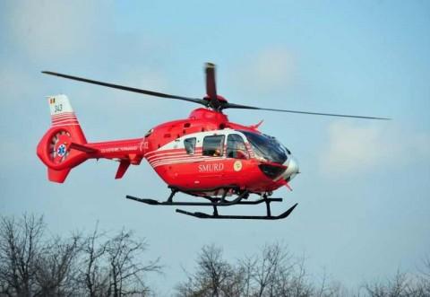 Barbat cazut de pe schela, la Targsorul Vechi. Vine elicopterul SMURD