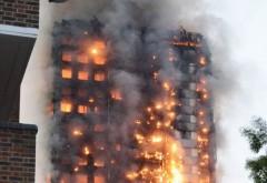 INCENDIU LONDRA. Imaginile groazei: Mai multe persoane s-au aruncat pe geam