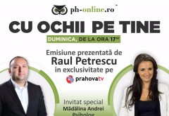 "Psihologul Madalina Andrei, invitat special la ""Cu ochii pe tine"", duminica, la Prahova TV"