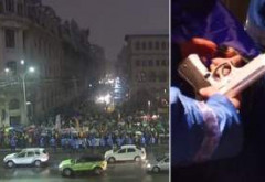 Fără precedent: Protestatarii din Piața Universității au venit cu pistoale, surubelnite si cutite. Jandarmii fac perchezitii