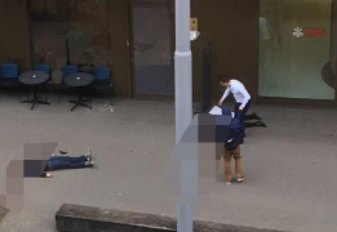 ATAC ARMAT la Zurich: Două persoane au fost UCISE în fața unei bănci / VIDEO