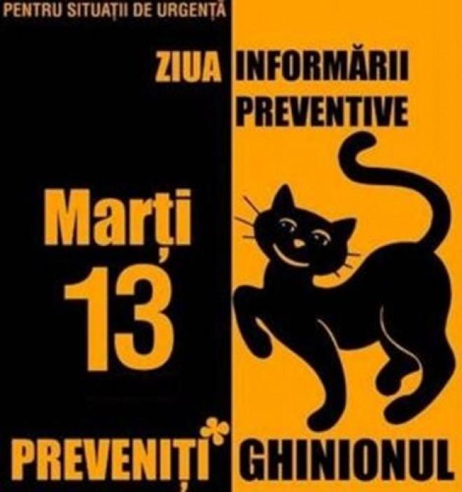 """Campanie ISU Prahova/ """"Ziua Informării Preventive"""": Ghinionul poate fi prevenit! Fiţi prevăzători!"""
