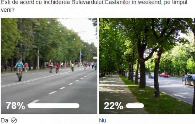Cititorii Ph-online au votat: Bulevardul Castanilor, INCHIS in weekend!