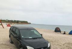 Un tânăr din Prahova a parcat maşina pe plaja din Vama Veche. AMENDA colosală dată de Poliţie - FOTO