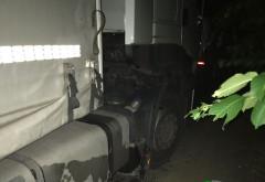 Furt de motorina dintr-un camion, la Crangul lui Bot. Jandarmii i-au prins in flagrant pe hoti