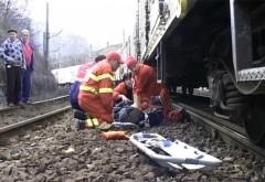 Barbat lovit de tren, in zona Auchan. Victima a decedat