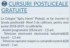 """Cursuri postliceale GRATUITE, la Colegiul """"Spiru Haret"""" Ploiești"""