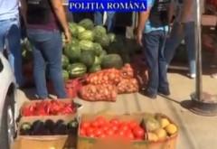 VIDEO - Razie a polițiștilor prahoveni, la comercianții de pe marginea drumurilor. Cinci tone de fructe și legume au fost confiscate