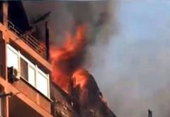 Incendiu in Ploiesti, pe strada Erou Moldoveanu Marian
