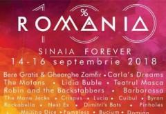 SINAIA FOREVER  2018 - Organizatorii au publicat programul complet al festivalului din 14 - 16 septembrie