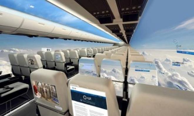Avionul fara ferestre, proiectul care ar putea fi gata in 10 ani