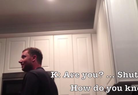 I-a spus sotului in cel mai original mod ca e insarcinata si l-a filmat fara ca el sa stie.  Reactia lui e de milioane :)) - VIDEO