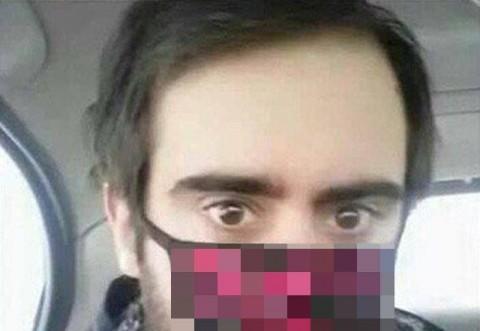 S-a facut de ras dupa ce a postat imaginea asta pe internet! Credea ca poarta o masca de ninja, dar altceva isi pusese pe fata