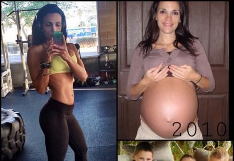 Ea uimeşte internetul: are 35 de ani, şase copii şi o siluetă perfectă!