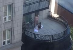 A facut sex cu doua femei, in plina zi, pe balcon! 18+
