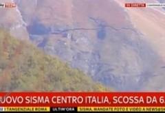 IMAGINI de NECREZUT din Italia: GAURĂ URIAȘĂ într-un munte, în urma cutremurului / VIDEO