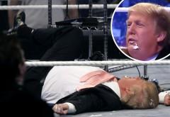 Donald Trump, BĂTUT în direct la TV! La propriu!  Imaginile fac acum înconjurul lumii