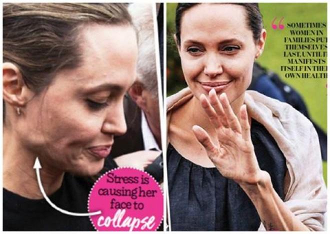 OK! Magazine: Imaginile groazei! Angelina Jolie DEMOLATA de divort! E grav bolnava. Uite cum arata in realitate! I-a cazut fata si a slabit enorm! Zici ca are 60 de ani! Pozele AICI