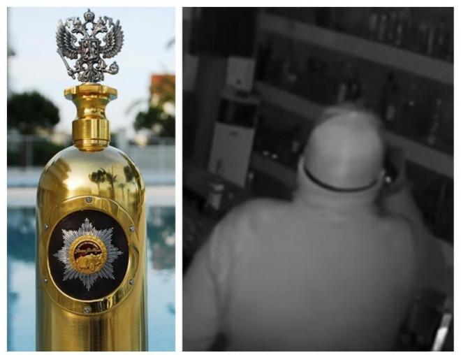 Cea mai scumpă sticlă de votcă din lume, furată săptămâna trecută, a fost găsită pe un șantier din Copenhaga
