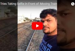 A vrut sa isi faca un selfie cu un tren aflat in miscare, insa ce a urmat este DRAMATIC! VIDEO SOCANT 18+