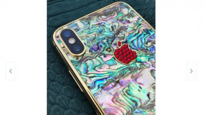 Cel mai scump iPhone de pe eMAG e placat cu aur si are piele de crocodil sau de rechin si e roz