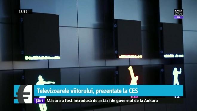 Televizoarele viitorului, prezentate la CES