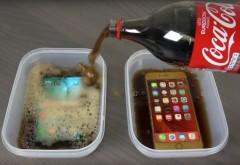 Experimentul pe care nu trebuie sa-l ratezi! A luat 2 telefoane de top si le-a pus in Cola apoi in congelator! La final a avut un soc