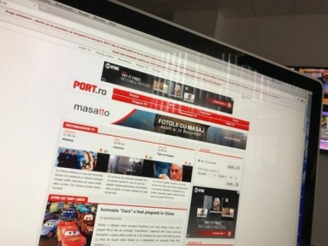 S-a inchis PORT.RO, cel mai mare site de programe TV