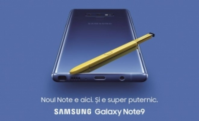 S-a lansat Samsung Galaxy Note 9! Vezi aici cum arata si cat costa