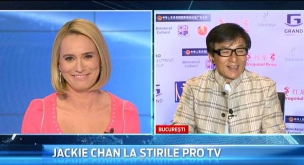"""Ce a raspuns Jackie Chan cand Andreea Esca l-a intrebat """"care e singurul lucru de care te temi in viata?"""""""