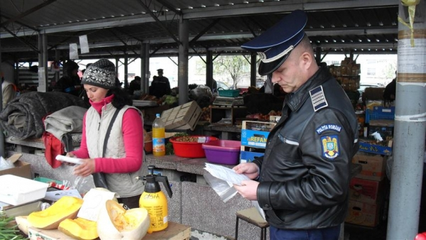 Actiune a politistilor locali, in pietele din Ploiesti