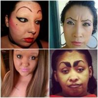 DOAMNE! ELE sunt femeile care nu stiu cum arata sprancenele normale =)))