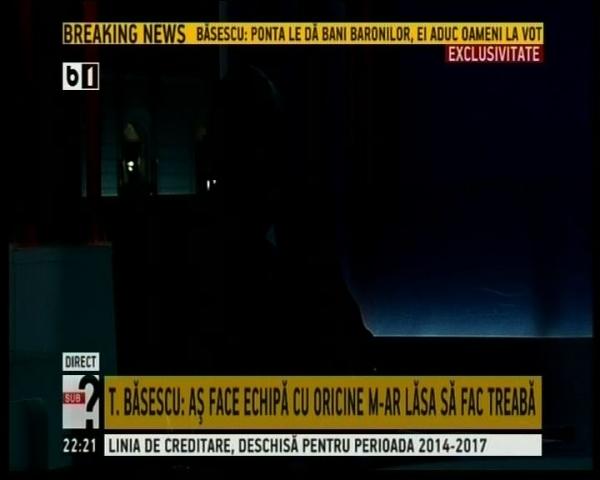 VIDEO Băsescu a rămas în beznă, în direct, la TV