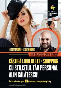Concurs pentru ploiestence: CASTIGA 1.000 de lei si o sesiune de shooping cu stilistul Alin Galatescu