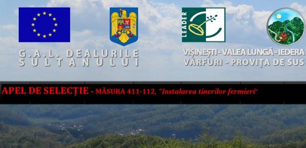 """GAL Dealurile Sultanului: APEL DE SELECȚIE MĂSURA 411-142, """"Înființarea grupurilor de producători"""""""
