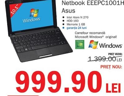 Doar până luni, laptop cu doar 1.000 de lei, la Carrefour