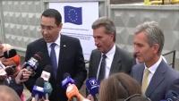 Victor Ponta, la inaugurarea GAZODUCTULUI Iaşi-Ungheni: Moldova nu va mai sta cu frica că rămâne fără energie