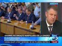 """Iohannis recunoaşte că i-a minţit pe liberali la congres: A fost o """"sincopă de week-end"""""""