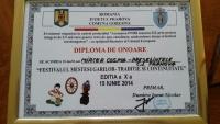 Mircea Cosma a primit Diploma de Onoare din partea primarului comunei Gorgota
