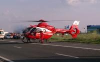 Accident grav la Bucov. O soferita a fost transportata cu elicopterul la Bucuresti